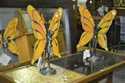 Sale 8165 - Lot 1054 - Pair of Lady Butterfly Table Lamps