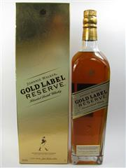 Sale 8225 - Lot 1756 - 1x Johnnie Walker Gold Label Master Blenders Reserve Scotch Whisky - 1000ml in box