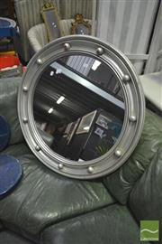 Sale 8284 - Lot 1072 - Large Silver Porthole Style Mirror