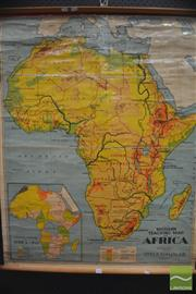 Sale 8326 - Lot 1070 - Educational Map of Africa AF