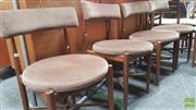 Sale 8383 - Lot 1020 - Good Set of Four G-Plan X-Frame Dining Chairs