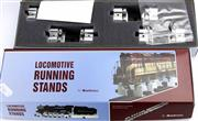 Sale 8376 - Lot 29 - O Gauge Turn Table and Running Stands; Bachrus 60SA-3 and 4 in boxes.
