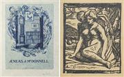 Sale 8475A - Lot 5015 - Adrian Feint (1894 - 1971) (2 works) - Bookplate for Aeneas J. McDonnell; Untitled 11.5 x 8cm; 10 x 8cm