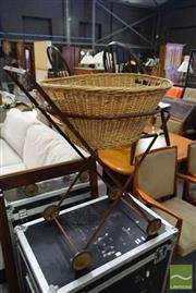 Sale 8532 - Lot 1330 - Wicker Washing Basket on Stand