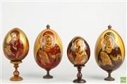 Sale 8563 - Lot 289 - Russian Icon Hand Painted Egg Collection (4)