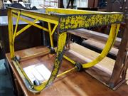 Sale 8740 - Lot 1688 - Industrial Trolley Painted Yellow