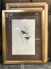 Sale 8794 - Lot 2094 - 3 works: Tom Roberts and John Gould Decorative Prints, plus framed C17th Style Tapestry.