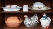 Sale 8815A - Lot 43 - A small quantity of ceramics including chicken and duck form lidded tureens and other oven ware