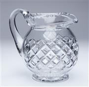 Sale 9080J - Lot 102 - An excellent quality large Scottish Edinburgh lead crystal jug C: 1940, the body and base with hand cut decoration. Ht: 17.5cm