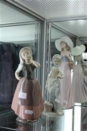 Sale 8112 - Lot 32 - Nao Group of 3 Figures of Various Ladies