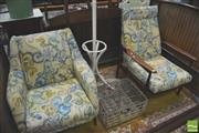 Sale 8302 - Lot 1100 - Fabric Clad Armchair and Another