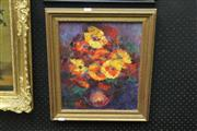 Sale 8325A - Lot 173 - Betty Ritter (XX) - Still Life - Flowers 39 x 32.5cm