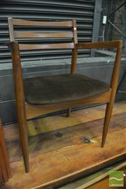 Sale 8364 - Lot 1026 - Good Pair of G-Plan Teak Arm Chairs with Velvet Upholstery