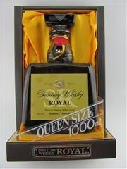 Sale 8439 - Lot 730 - 1x Suntory Whisky Royal Blended Japanese Whisky - Queens Size 1000ml, in box (SRQ01)