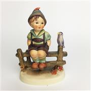 Sale 8456B - Lot 33 - Hummel Figure of a Boy on Fence