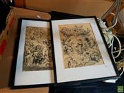 Sale 8622 - Lot 2021 - Pair of Norman Lindsay mono lithographs, 40 x 30.5cm, each (frame size)