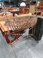 Sale 8741 - Lot 1059 - Wrought Iron Swinging Bassinet