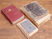 Sale 8984H - Lot 93 - Assorted reference material including A NSW statistical register from 1911, a Dictionary, an early medical text book and a number of...
