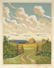 Sale 9078A - Lot 5073 - John Hall Thorpe (1874-1947) (2 works) - The Open Gate (pair) 35.5 x 28 cm (sheet: 38.5 x 30.5 cm)