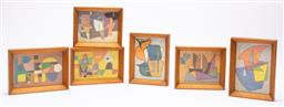 Sale 9170H - Lot 66 - A set of six Atanasio Soldati framed abstract prints from the Continuity series, ex Collezione Bergamini,