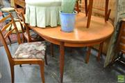 Sale 8465 - Lot 1640 - Quality McIntosh Teak table and 6 chairs