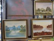 Sale 8563T - Lot 2182 - O Whit and W Preston (3 works), Country Scenes, oil paintings, various sizes, each signed lower