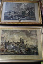 Sale 8582 - Lot 2033 - After Philips Wouwerman (2 works) - LAbreuvoir Hollandais; LAccident du Chasseur 59 x 81cm (frame); 56.5 x 84cm (frame)