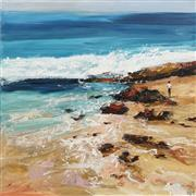 Sale 8732A - Lot 5030 - Cheryl Cusick - Rock Beach 120 x 120cm
