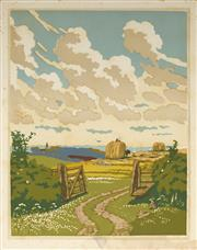 Sale 9078A - Lot 5074 - John Hall Thorpe (1874-1947) (2 works) - The Open Gate (pair) 35.5 x 28 cm (sheet: 38.5 x 30.5 cm)