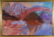 Sale 9069 - Lot 2010 - Artist Unknown Harbour View Reflections acrylic on canvas, 123 x 177cm, signed lower right -