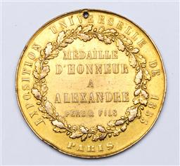 Sale 9144 - Lot 57 - A 19th Century French Medaille DHonneur Exposition Universalle 1855 Alexandre Pere and Fils - converted to pendant