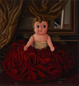 Sale 9216A - Lot 5014 - IRENE WELLM (1964 - ) Lola Dressed as Infante, 2004 oil on canvas (AF - paint loss) 198 x 183 cm signed, dated and titled verso