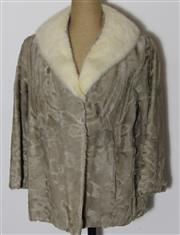 Sale 8134B - Lot 391 - VINTGAE OYSTER KIDSKIN JACKET WITH MINK COLLAR; with original receipt from J Cole Furs (12-14), with extra fur pieces.
