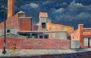 Sale 8325A - Lot 19 - Greg Frawley (1947 - ) - St. Peters Brickworks, Sydney 38.5 x 60cm