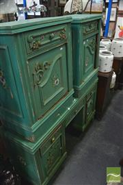 Sale 8328 - Lot 1054 - French Style Three Piece Bedroom Suite incl. Dresser and Pair of Bedsides