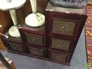 Sale 8412 - Lot 1066 - Timber Step Side Chest of Six Drawers