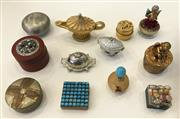 Sale 8436A - Lot 57 - A group of miscellaneous pill boxes including Aladdins lamp and rhinestone tureen.