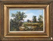 Sale 8583A - Lot 5022 - G. Crosby (1949 - ) (2 works) - Country Cottages 17 x 27.5cm, each