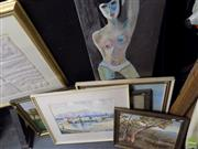 Sale 8557 - Lot 2075 - Group of 6 Assorted Artworks by Various Artists