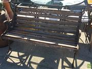 Sale 8566 - Lot 1459 - Timber and Metal Outdoor Bench