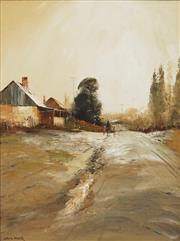 Sale 8821 - Lot 569 - Colin Parker (1941 - ) - Frosty Morn at Trunky Creek, NSW 60 x 45cm