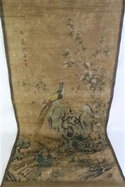 Sale 8902C - Lot 624 - A Chinese Scroll Featuring Birds and Flowers