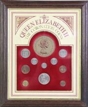 Sale 8935D - Lot 618 - A Framed Queen Elizabeth II the coronation 1953 coin set