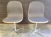 Sale 8967 - Lot 1054 - Pair of Swivel Mesh Chairs by Anibou (H:89 W:50cm)
