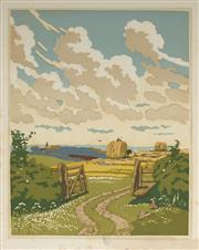 Sale 9078A - Lot 5075 - John Hall Thorpe (1874-1947) (2 works) - The Open Gate (pair) 35.5 x 28 cm (sheet: 38.5 x 30.5 cm)
