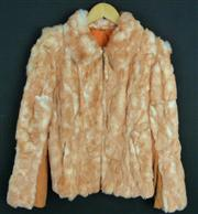 Sale 7982B - Lot 57 - Italian dyed fur peach coloured bomber jacket with zip front (M)