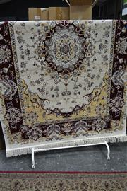 Sale 7987A - Lot 1387 - Brand New Classical Style Maroon and Cream Tone Turkish Carpet, (160x230)