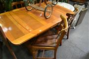 Sale 8031 - Lot 1085 - Oak Draw Leaf Table and 4 Chairs