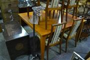 Sale 8147 - Lot 1055 - Large Square Form Dining Table