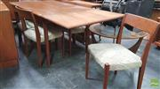 Sale 8383 - Lot 1012 - Superb Svengard Danish Teak Table and Six Chairs